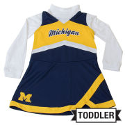 Outerstuff University of Michigan Toddler Cheerleader Outfit