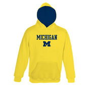 Outerstuff University of Michigan Youth Yellow Pullover Hooded Sweatshirt