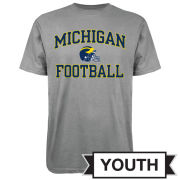 Outerstuff University of Michigan Football Youth Gray Helmet Tee