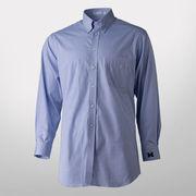 Paul Fredrick Blue Button Down Collar Trim Fit Dress Shirt