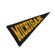 Collegiate Pacific University of Michigan Mini Wool Felt Pennant Magnet