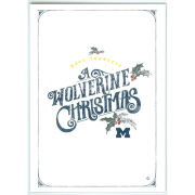 Paulson Designs University of Michigan ''Wolverine Christmas'' Note Card