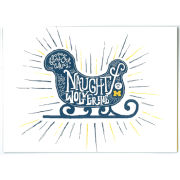 Paulson Designs University of Michigan ''Naughty or a Wolverine'' Note Card