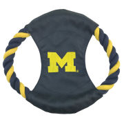 Pet Goods University of Michigan Rope Disk Dog Toy