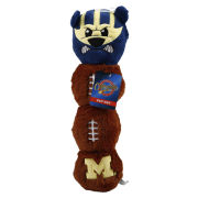 Pets First University of Michigan Football Long Mascot Plush Dog Toy