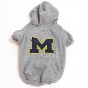 Pet's First University of Michigan Gray Dog Hooded Sweatshirt