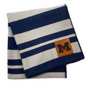 Homefield Decor Co. University of Michigan Striped Woven Acrylic Blanket