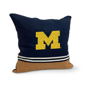 Chase & Hue University of Michigan Varsity Patch Square Throw Pillow