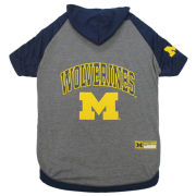 Pets First University of Michigan Dog Hooded Tee