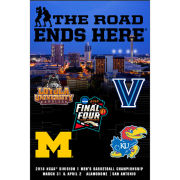 Prographs University of Michigan Basketball Final Four 24 x 36 Four Team Poster