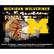 Prographs University of Michigan Basketball Final Four 16 x 20 Four Ball Print