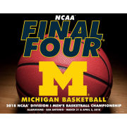 Prographs University of Michigan Basketball Final Four 8 x 10 Studio Ball Print
