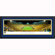 Michigan v. ND Under The Lights Framed Panoramic by Blakeway Panoramas
