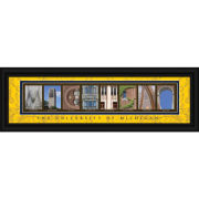 University of Michigan Framed Picture: Classic Michigan Letter Art