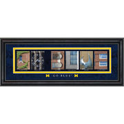 University of Michigan Framed Picture: Classic Go Blue Letter Art