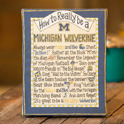 Glory Haus University of Michigan How To Table Top Canvas Art