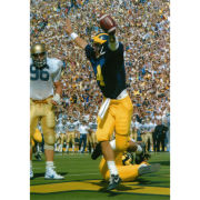 University of Michigan Football Jim Harbaugh (TD Celebration v. ND in 1985) 8x10 Glossy Photo