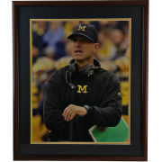 University of Michigan Football Framed Picture: Jim Harbaugh (Notebook)