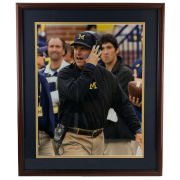 University of Michigan Football Framed Picture: Jim Harbaugh (Headset)