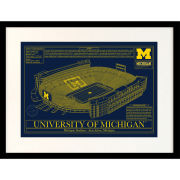 Stadium Blueprint Company University of Michigan Stadium Framed Blueprint [Large Size]