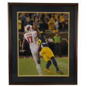 University of Michigan Football Framed Pictures: Jourdan Lewis Interception vs. Wisconsin (2016)