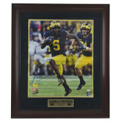 University of Michigan Football Framed Picture: Jabrill Peppers Run Autographed Framed Photo