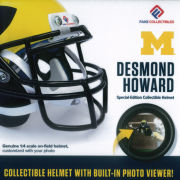 Fanz Collectibles University of Michigan Football Desmond Howard Collectible Mini Helmet with Built-In Photo Viewer