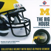 Fanz Collectibles University of Michigan Football ''The Big House'' Michigan Stadium Collectible Mini Helmet with Built-In Photo Viewer