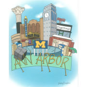 Victoria Bornstein Art ''Ann Arbor'' 8x10 Print