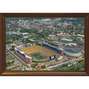 Dale Fisher University of Michigan Football Stadium Maize Out vs. Nebraska (9/22/18) Framed Canvas Photo