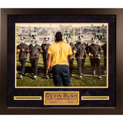 University of Michigan Football Framed Picture: Devin Bush Jr. (v. MSU) ''Fear No One'' Autographed Framed Photo