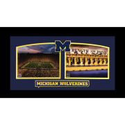 University of Michigan Big House Locker Room Collage Framed Picture