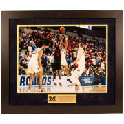 819f6a88413d6d University of Michigan Basketball Jordan Poole   The Shot   Framed Picture