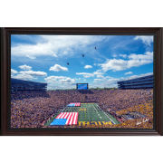 Dale Fisher University of Michigan Football vs. Army (9/7/19) Helicopter Fly-Over Framed Canvas Photo