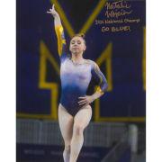 University of Michigan Women's Gymnastics Natalie Wojcik Autographed 8x10 Photo