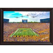 Dale Fisher University of Michigan Football Stadium (2021) Warthog Flyover at 2021 Season Opening Game Framed Canvas Photo