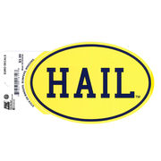 Pine University of Michigan Yellow HAIL Euro Decal