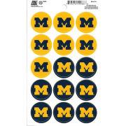 Pine University of Michigan Mini Block M Decals (15 Decals)