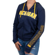 VS PINK University of Michigan Women's Navy Full Zip Perfect Hooded Sweatshirt