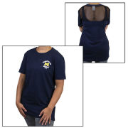 VS PINK University of Michigan Women's Navy Campus Tee with Mesh Back Yoke