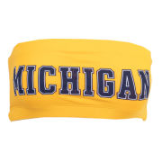 VS PINK University of Michigan Women's Yellow Bandeau