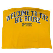 VS PINK University of Michigan Women's Yellow ''Welcome to the Big House'' Tube Top