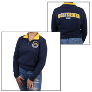 VS PINK University of Michigan Women's Navy Perfect 1/4 Zip Pullover Sweatshirt