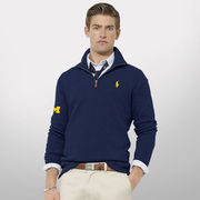 Polo Ralph Lauren University of Michigan Navy 1/4 Zip Sweater