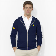 Polo Ralph Lauren University of Michigan Navy Full Zip Hooded Sweatshirt