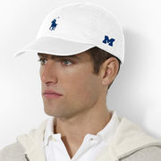 Polo Ralph Lauren University of Michigan White Chino Baseball Hat