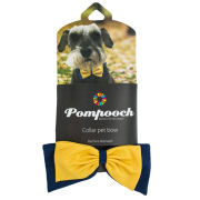 Pomchies University of Michigan Pompooch Collar Pet Bow Tie