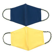 Pomchies 2 Pack Navy and Yellow Facemasks