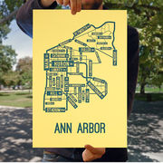 School Street Posters University of Michigan Ann Arbor Street Map Poster