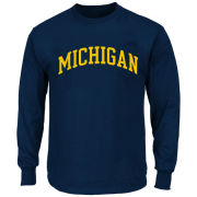 Profile Varsity University of Michigan Big & Tall Navy Long Sleeve Basic Tee<br><b>[Big & Tall]</b>